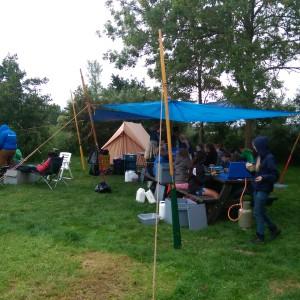 Tijdelijk kamp op trektocht