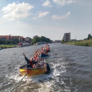 De sleep terug van Alkmaar, heel gezellig!